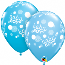 Baby Boy Blue Dots - 11 Inch Balloons 25pcs